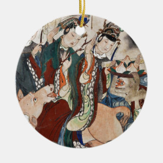 The Ox Figure of the Chinese Zodiac Wall Painting Ceramic Ornament