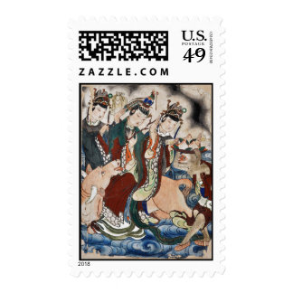 The Ox Figure of the Chinese Zodiac Wall Painting Postage