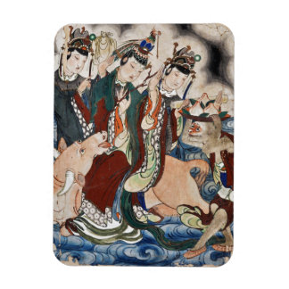 The Ox Figure of the Chinese Zodiac Wall Painting Rectangular Photo Magnet