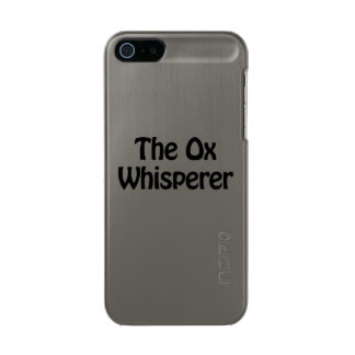 the ox whisperer metallic iPhone SE/5/5s case