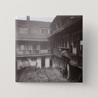 The Oxford Arms in Warwick Lane, 1875, from 'Histo Pinback Button