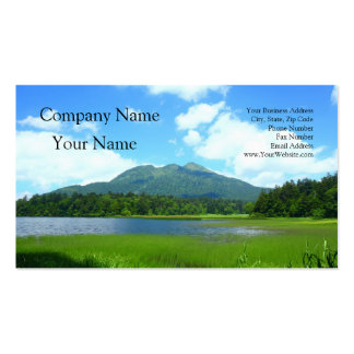 The Oze swamp of summer 燧 peak Double-Sided Standard Business Cards (Pack Of 100)