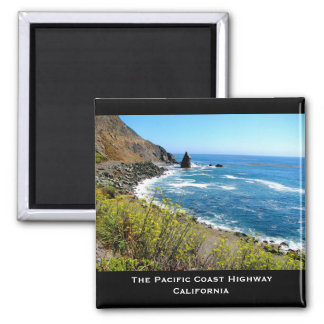 The Pacific Coast Highway 2 Inch Square Magnet