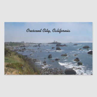 The Pacific Ocean, as Seen from Crescent City Rectangular Sticker