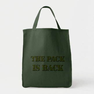 the pack is back cheese text tote bag