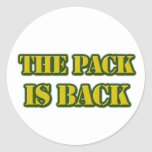 the pack is back classic round sticker