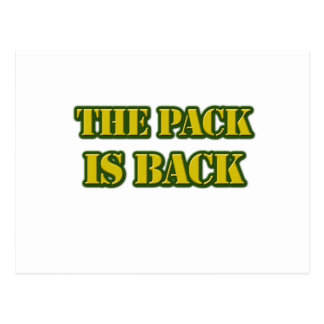 the pack is back postcard