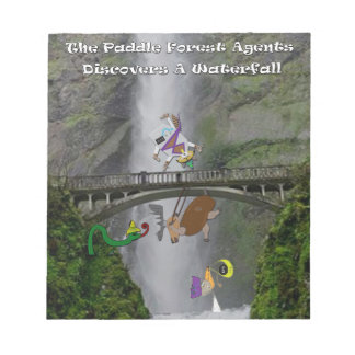The paddle forest agents discover a waterfall notepad