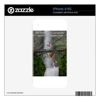 The paddle forest agents discover a waterfall skins for the iPhone 4S