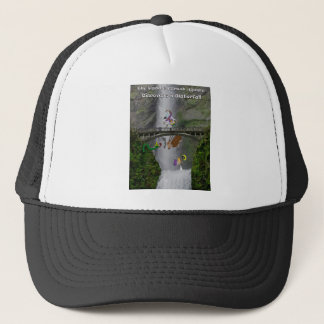 The paddle forest agents discover a waterfall trucker hat