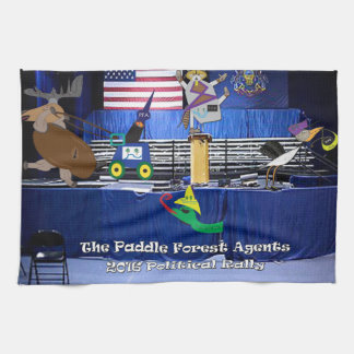 The paddle forest agents political rally hand towel