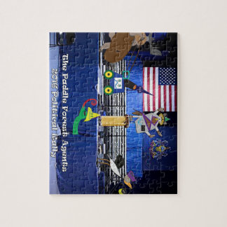 The paddle forest agents political rally jigsaw puzzle