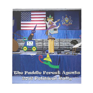 The paddle forest agents political rally notepad