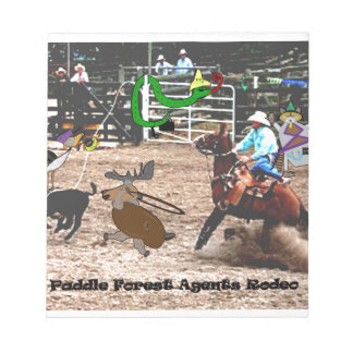 The paddle forest agents rodeo notepad