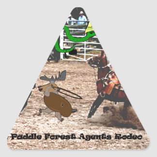 The paddle forest agents rodeo triangle sticker
