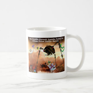 The paddle forest agents take on aliens coffee mug