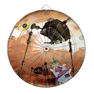 The paddle forest agents take on aliens dart boards