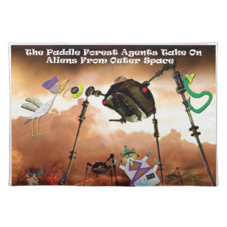 The paddle forest agents take on aliens placemat