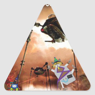 The paddle forest agents take on aliens triangle sticker