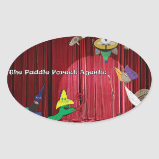 The paddle forest agents talent show oval sticker