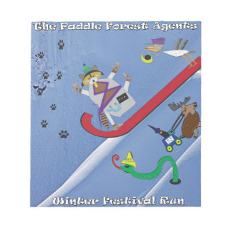 The paddle forest agents winter festival notepad
