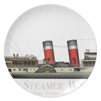 The Paddle Steamer Waverley by Tony Fernandes Dinner Plate