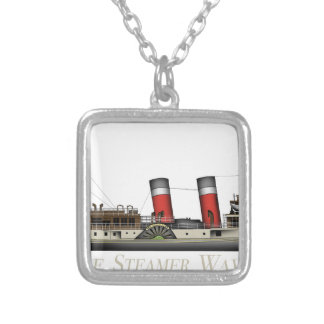 The Paddle Steamer Waverley by Tony Fernandes Silver Plated Necklace