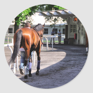 The Paddock at Belmont Park Classic Round Sticker