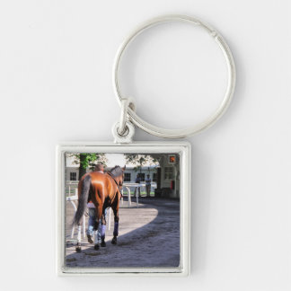 The Paddock at Belmont Park Keychains