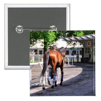 The Paddock at Belmont Park Pinback Button