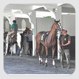 The Paddock at Belmont Park Square Sticker