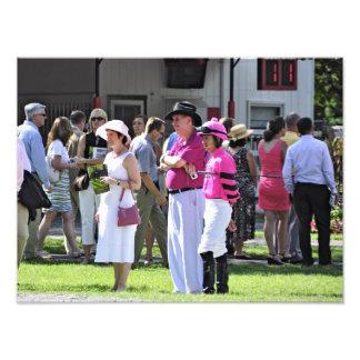 The Paddock at Saratoga Photo Print