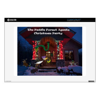 The padle forest agents christmas party decal for laptop