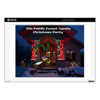 The padle forest agents christmas party decals for laptops
