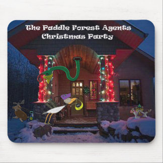 The padle forest agents christmas party mouse pad