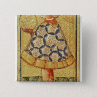 The Page of Coins, from a pack of tarot cards Button