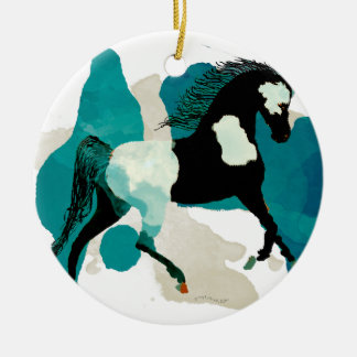 The Paint Horse Ceramic Ornament
