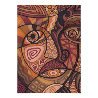 The Painted Face Art Print