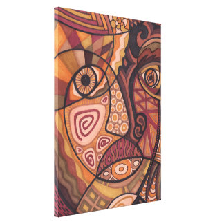 The Painted Face Canvas Print