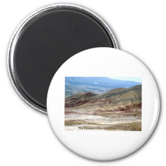 The Painted Hills Eastern Oregon Nature Art Photo 2 Inch Round Magnet