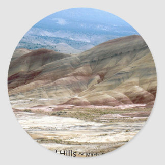 The Painted Hills Eastern Oregon Nature Art Photo Classic Round Sticker