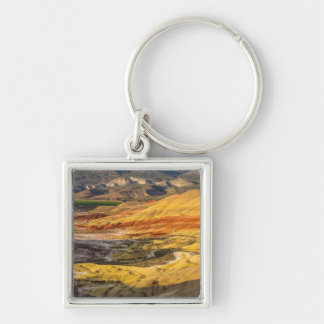 The Painted Hills In The John Day Fossil Beds 3 Silver-Colored Square Keychain