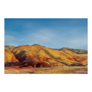 The Painted Hills In The John Day Fossil Beds Poster