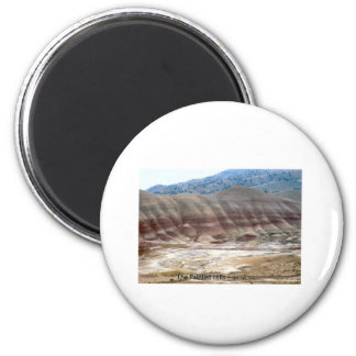 The Painted Hills Mitchell Oregon Photo Nature Art 2 Inch Round Magnet