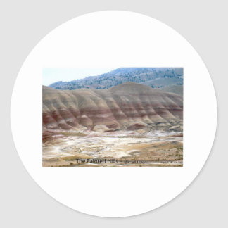 The Painted Hills Mitchell Oregon Photo Nature Art Classic Round Sticker