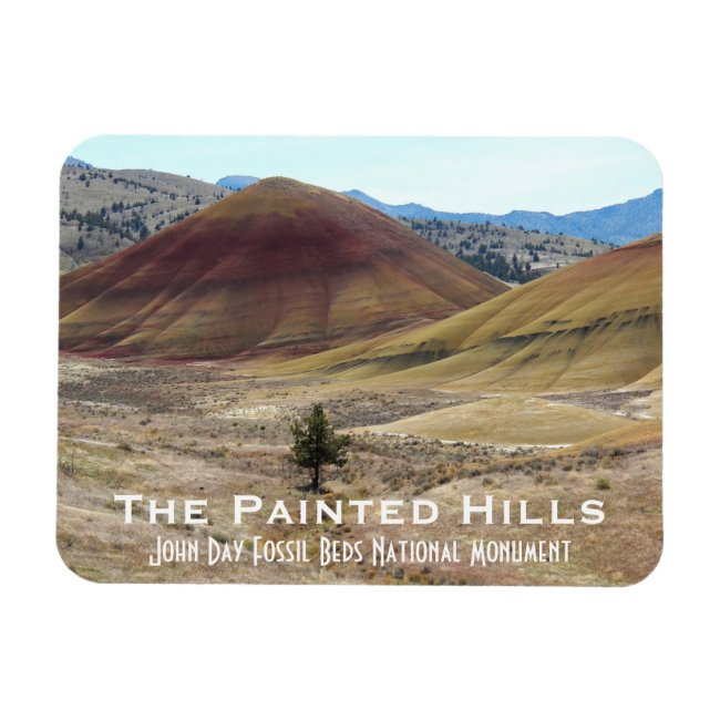 The Painted Hills Travel Photo Magnet