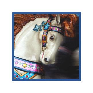 The painted Horse Merry-go-round amusement park 7 Canvas Print