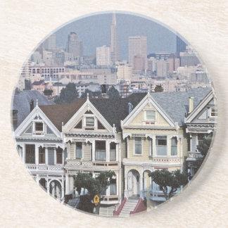 The Painted Ladies San Francisco Drink Coaster