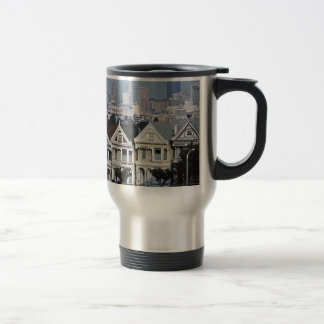 The Painted Ladies San Francisco Travel Mug