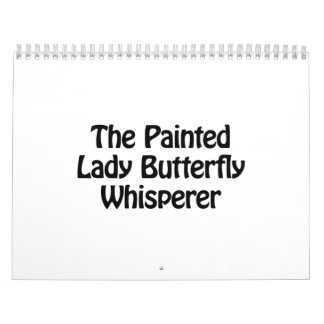 the painted lady butterfly whisperer calendar
